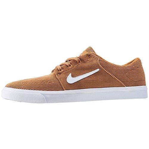 Nike Portmore Cnvs Premium, Zapatillas de Skateboard para Hombre Beige (Desert Ochre/white)