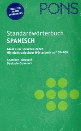 PONS Standardwörterbuch Spanisch mit CD-ROM
