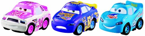 Cars Micro Drifters Tank Coat, Transberry Juice and Dinoco McQueen Vehicle 3-Pack