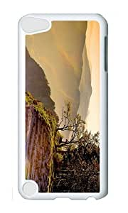 Ipod 5 Case,MOKSHOP Cool mountain cliff sunset Hard Case Protective Shell Cell Phone Cover For Ipod 5 - PC White