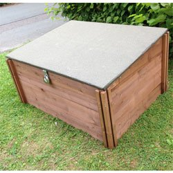 fsc wooden garden lockable storage box 118 x 90cm height 82cm at back - Lockable Storage Box