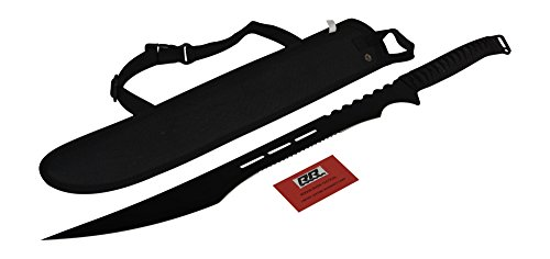 Rogue-River-Tactical-27-Full-Tang-Black-Blade-Machete-Ninja-Sword-Fantasy-Katana-Knife-w-Sheath
