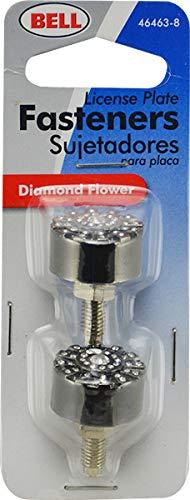 Bell Automotive 22-1-46463-8 Silver Diamond Flower License Plate Fastener