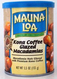 CASE OF 12 CANS-KONA COFFEE GLAZED Macadamia Nuts by Mauna Loa (Six 5.5 ounce cans) ()