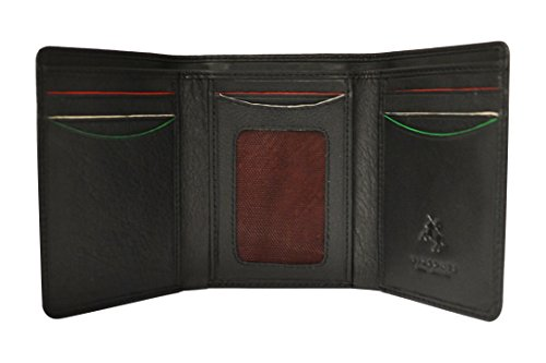 Visconti AG16 Pinehurst Mens Classic Style Trifold Wallet AUGUSTA COLLECTION (Pinehurst Leather)