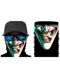 Happy Rocker Bandana Tube Face Mask Shield Funny Vampire Headband