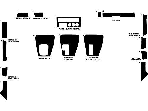 (Rdash Dash Kit Decal Trim for BMW 5-Series 1989-1995 - Wood Grain (Burlwood Honey) )