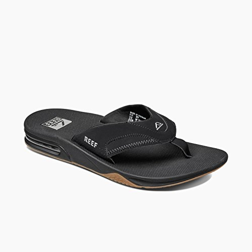 Reef Fanning Mens Sandals Bottle Opener Flip Flops for Men,Black/Silver,12 M US by Reef (Image #8)