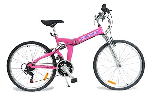 Columba 26 Inch Alloy Folding Bike Bubblegum (RJ26A_Gum)