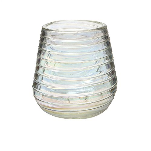 Perla Luster Collection Hand Blown Stemless Wine Glasses, Made of Mexican Recycled Glass, 16oz. - Set of 4 (Jar Hand Glass Blown)