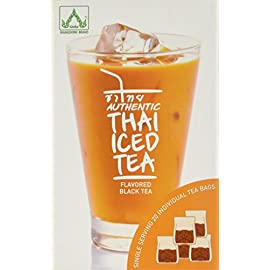 Authentic Thai Iced Tea Flavored Black Tea,23 tea bags 82 Making authentic Thai Iced Tea is easier than ever. 20 Individual Tea Bags Great tasting Thai Iced Tea just like the way restaurants makes it.