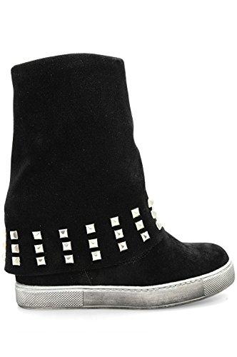 Alx Trend Chaussures femme Bottines à clous et coin intérieur Monica - Noir