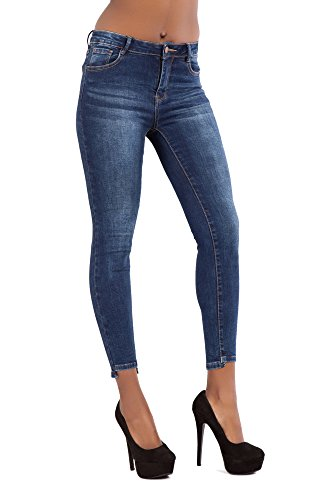 Lustychic Donna Dark Blue Faded Jeans xxnrZaPT