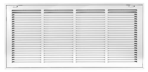 Accord ABRFWH2412 Return Filter Grille with 1/2-Inch Fin Louvered, 24-Inch x 12-Inch(Duct Opening Measurements), White