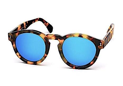 135dc6e9e Amazon.com: Illesteva Leonard Tortoise with Blue Mirrored Lenses Color 62:  Clothing