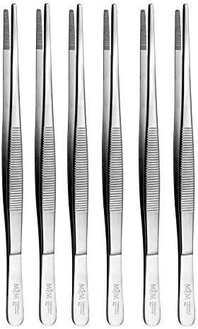 Lot de 6 pinces /à /épiler techniques droites May Pince /à /épiler /électrique Mod/èle pince /à /épiler Acier in 20 cm Pince /à /épiler industrielle
