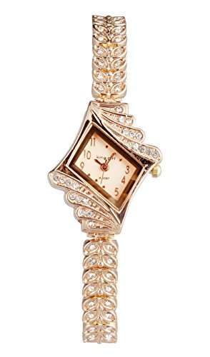 ShoppeWatch Womens Watch Bling Crystals Rose Gold Tone Bracelet Small Dial Reloj Damas SW9097RSRS