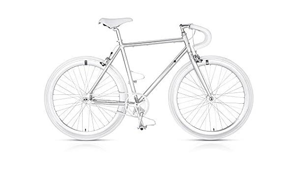 MBM Bicicleta de Aluminio Metal del Engranaje Fija: Amazon.es: Deportes y aire libre