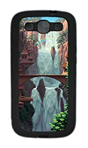 Samsung Galaxy S3 I9300 Cases & Covers Pixel Waterfall Custom TPU Soft Case Cover Protector for Samsung Galaxy S3 I9300 Black