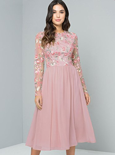 XS 16 XL Rosa Uk8 Kleid Chi Chi Nude Bee xnA0ZBIq