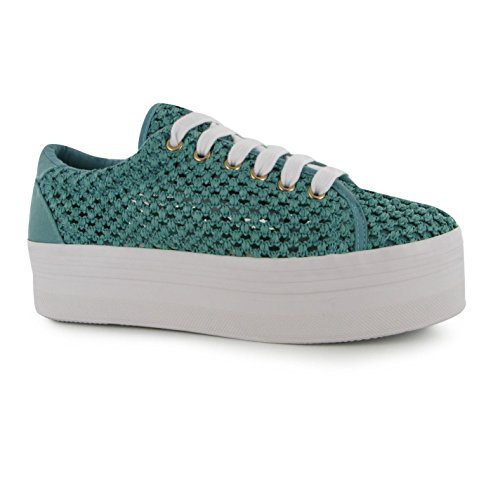 Jeffrey Campbell Play Chaussures plateforme en maille pour femme Vert Fashion formateurs Sneakers