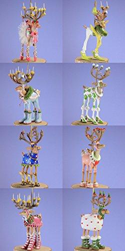Patience Brewster Reindeer - Patience Brewster Set of 8 Mini Dashaway Reindeer Ornaments Krinkles