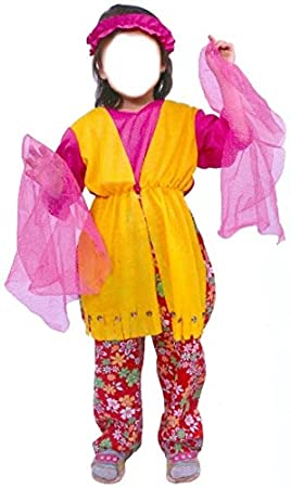 Disfraz Hippie Niña 7-10 años: Amazon.es: Juguetes y juegos