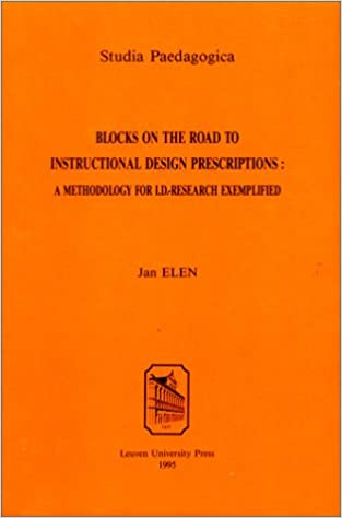 Blocks On The Road To Instructional Design Prescriptions A