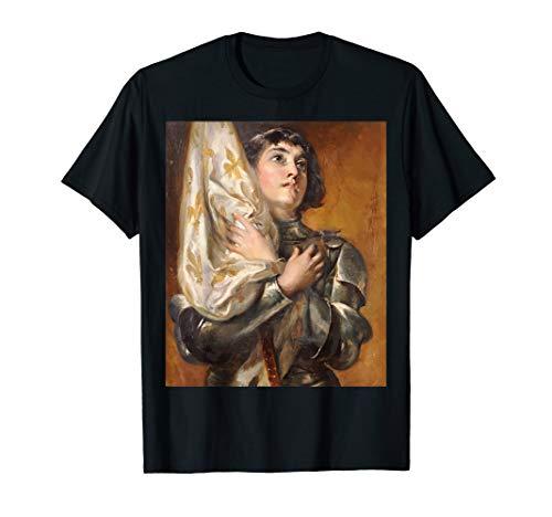 (Portrait of St. Joan of Arc T-Shirt Catholic Saints)