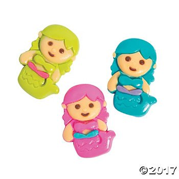Fun Express Mermaid Gummy Candy - 38 individually wrapped pcs ()