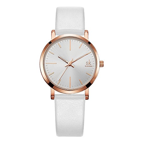 Price comparison product image SK Women Watches Leather Band Luxury Quartz Watches Lady Girls Fashion Watches for Women Relogio Feminino