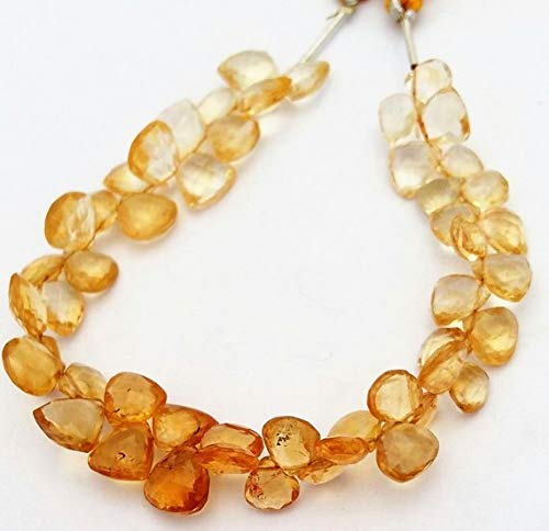 - JP_BEADS Nice Quality Natural Citrine Faceted Heart & Triangle Shaped Beads,Very Beautiful Gemstone, 7x7 mm to 8x9 mm Approx,8