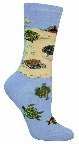 Wheel House Designs Women's Sea Turtle Socks made in Vermont