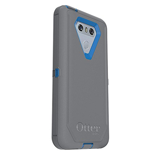 Rugged Protection OtterBox DEFENDER SERIES Case for LG G6 - Bulk Packaging - MARATHONER (COWABUNGA BLUE/GUNMETAL GREY)