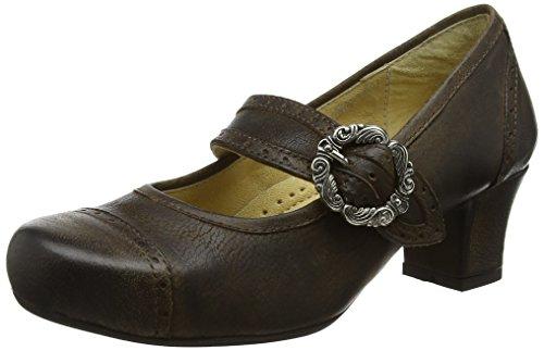 Braun Clara amp; Mujer Rustic con Tacón para de Zapatos Punta 418 Wensky Spieth Cerrada qFxwT71q