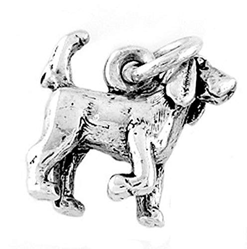 Sterling Silver Bloodhound Dog Charm/Pendant Vintage Crafting Pendant Jewelry Making Supplies - DIY for Necklace Bracelet Accessories by CharmingSS