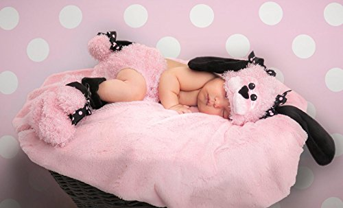 Princess Paradise Baby Girls' Pinkie Poodle Deluxe Diaper Cover Set, pink, 0/3M (Pink Poodle Baby Costume)
