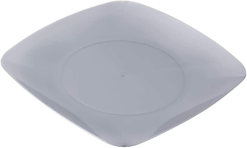 / /Assiettes Plastique Dur Heavy Duty /él/égant/ Renaissance La Lot DE 10/ /19/cm /Argent 19,1/cm