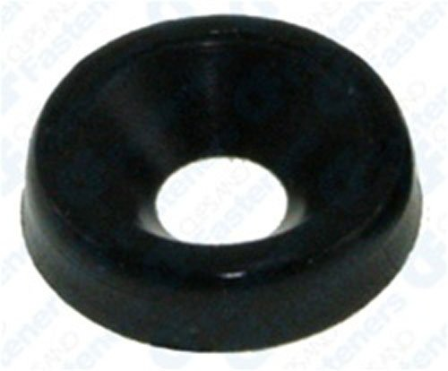 50 #8 Nylon Finishing Washer - Black