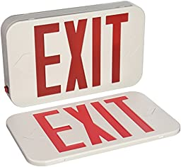 Progress Lighting Progress Lighting PE008-30 1-Light Exit/Emergency Sign with White Finish