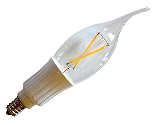 E12 Low Voltage 12V AC/DC 2W 200 Lumens Filament Candelabra LED, COBB Chips 20W Replacement (Warm White 2700K)