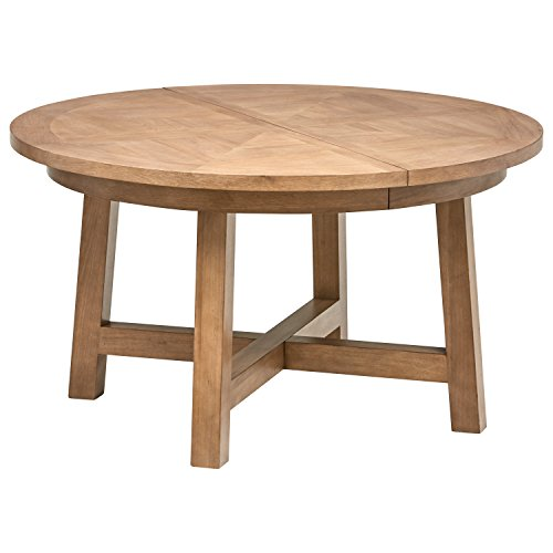 - Stone & Beam Jon Casual Farmhouse Wood Dining Table, 72