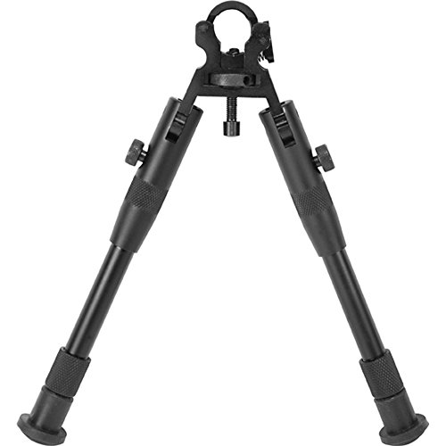 BARSKA AW11890 Barrel Clamp Bipod, Medium Height, Matte Black by BARSKA