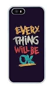 Jiu Yi Everything Will Be Ok Personalized Custom Crystal Clear Enamel Hard Back Shell Case Cover Skin for iPhone 4/4S by runtopwell