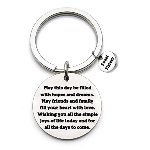 FSTYLE Happy Birthday Keychain Gift 13th 16th 18th 30th 46th Charms Key Ring Best Friends Family Jewelry