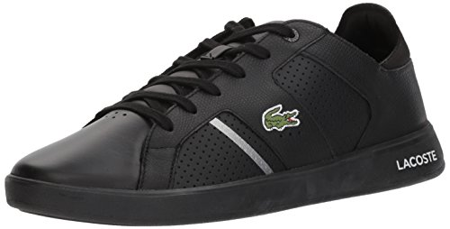 Lacoste Men's Novas CT Sneakers Black/Slv Leather free shipping pick a best FfsZ8