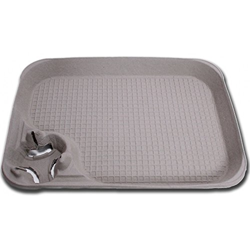 Molded Fiber Food / Seafood / Crawfish Tray 15 x 11 with Cup Carrier, PACK of 25, w/Signature Party Picks