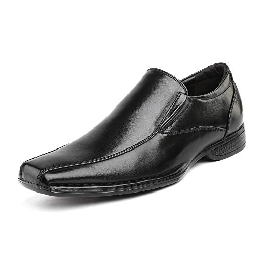 Dress Shoes Black Style Loafer - Bruno Marc Men's Giorgio-1 Black Leather Lined Dress Loafers Shoes - 13 M US