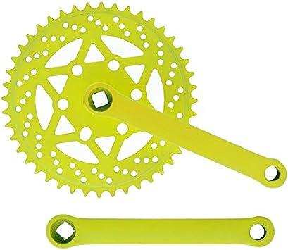 Riscko 007sml Juego De Bielas Bicicleta Personalizada Fixie Tallas S-m-l-l Urb Amarillo: Amazon.es: Deportes y aire libre