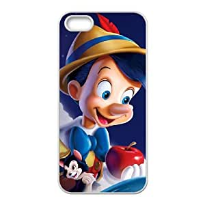 iphone5 5s White phone case Disney Cartoon Comic Series Pinocchio QBC3078010